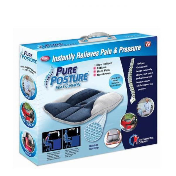 Pure Posture Seat Cushion Instantly Relieves Pain
