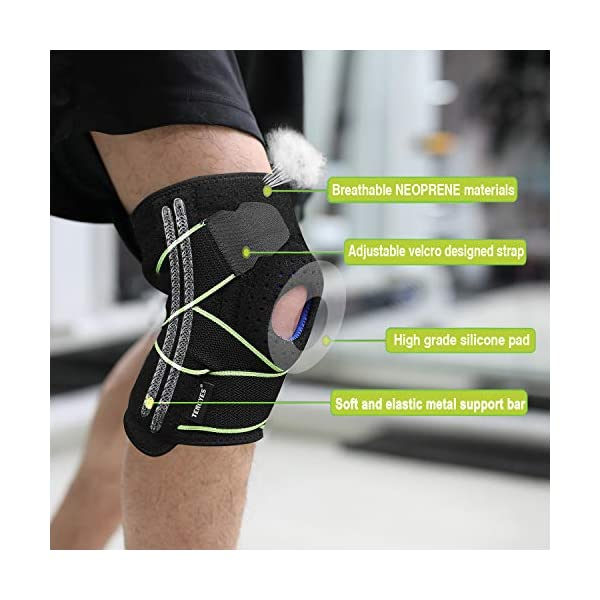 Knee Stabilizer With Patella Gel Pad and 4 Springs